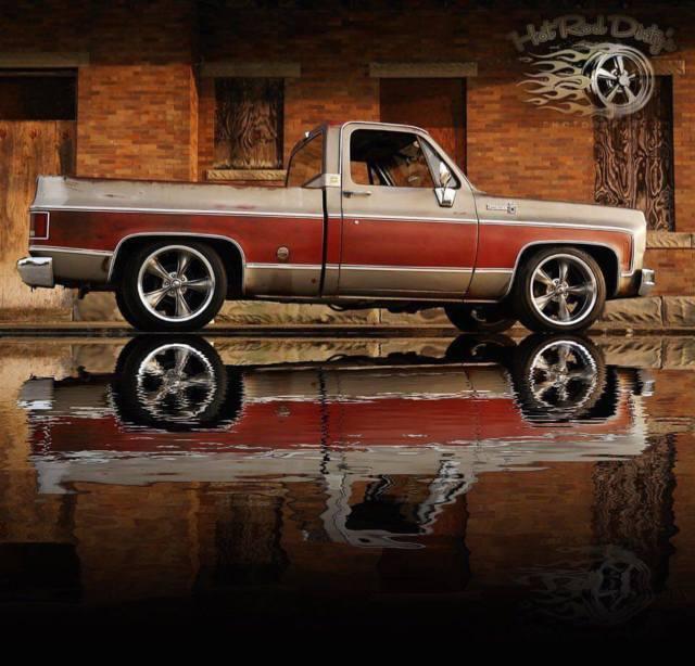 Slammed Silverado Squarebody C Hot Rat Street Rod Patina Pickup Hotrod Ls Swap