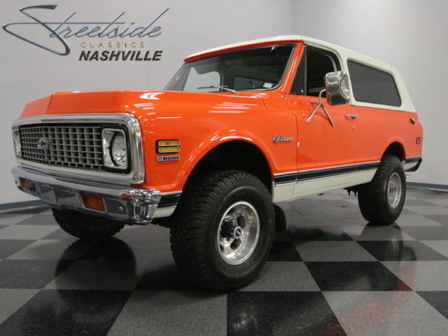 super clean k5 blazer slick orange paint nice interior 350ci auto must see. Black Bedroom Furniture Sets. Home Design Ideas