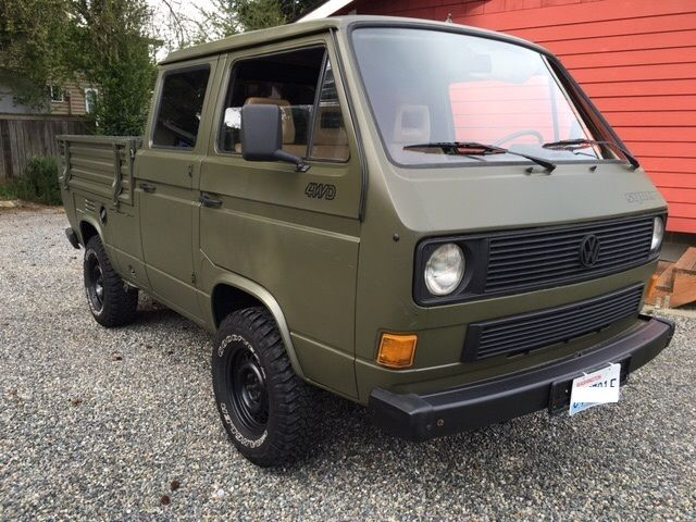 volkswagen transporter doka syncro 4wd crewcab pickup turbo diesel. Black Bedroom Furniture Sets. Home Design Ideas