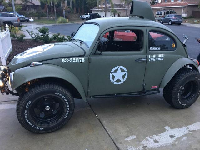 Vw Baja Bug Manual Army Green Lifted Rear No Rust