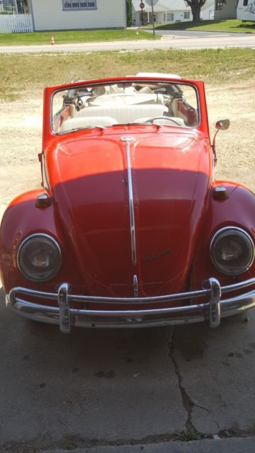 vw beetle bug convertible project parts car with title 6 volt 1200 cc. Black Bedroom Furniture Sets. Home Design Ideas